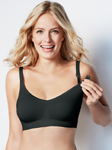 Imetysliivit Body Silk Seamless Black