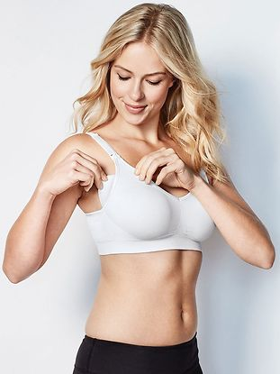 Imetysliivit Body Silk Seamless White